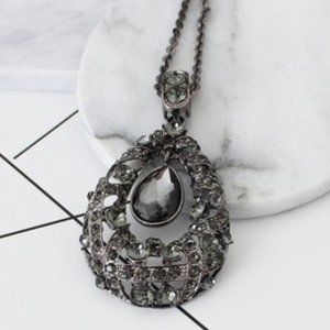 Water drop shaped necklace